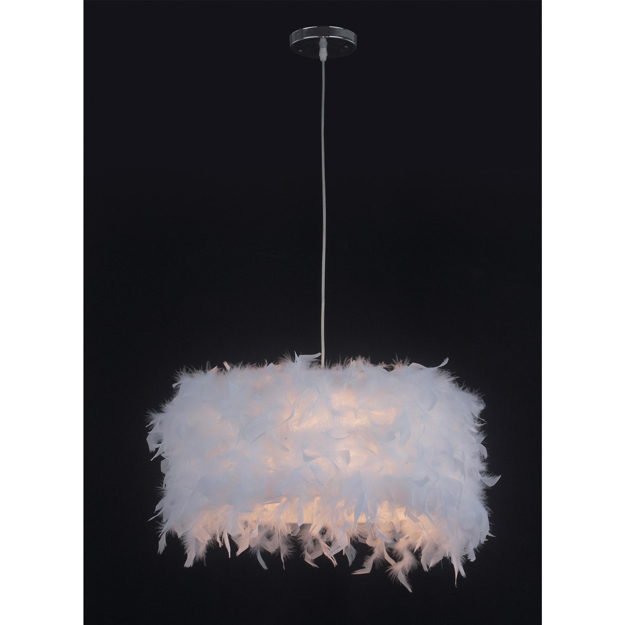 Feather Pendant Light - White