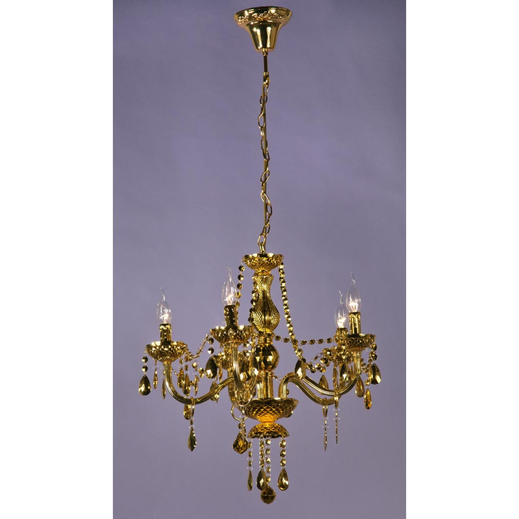 Glimmer 5 Light Chandelier - Gold