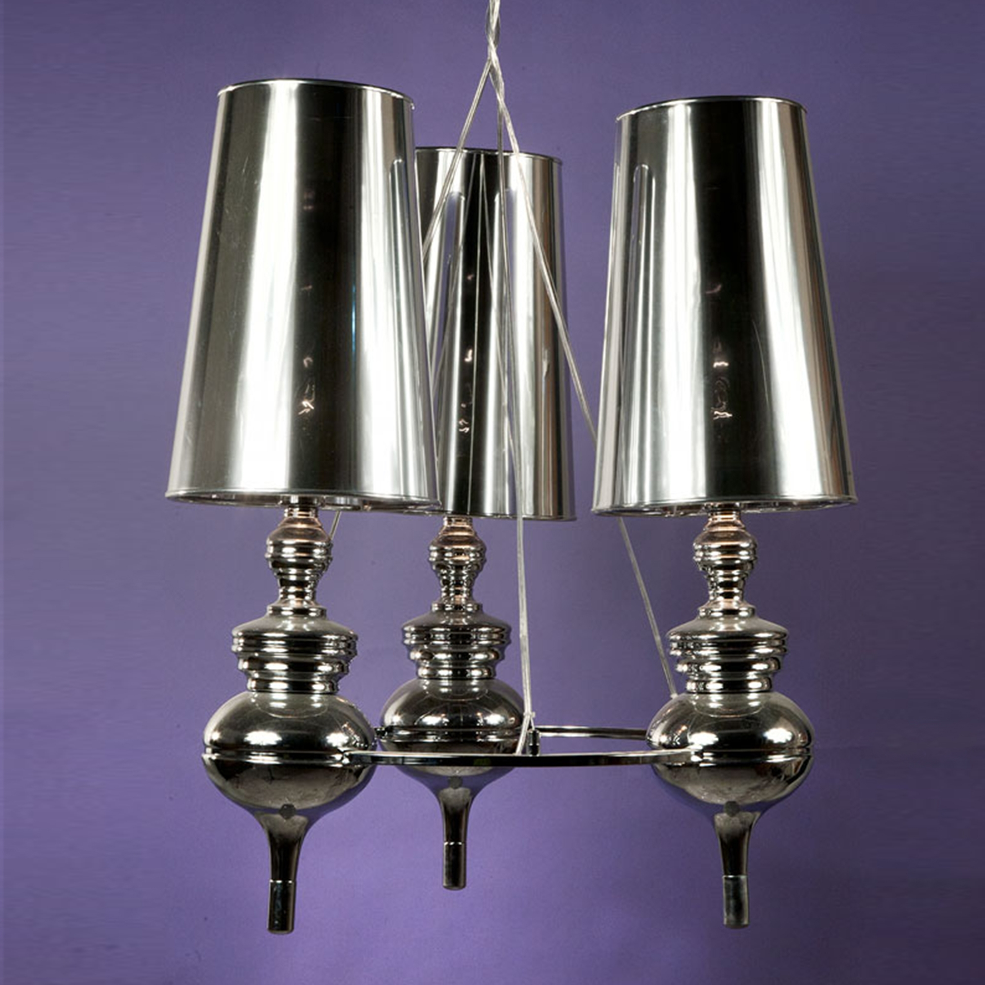 Contemporary Stylised Ceiling Light - Chrome