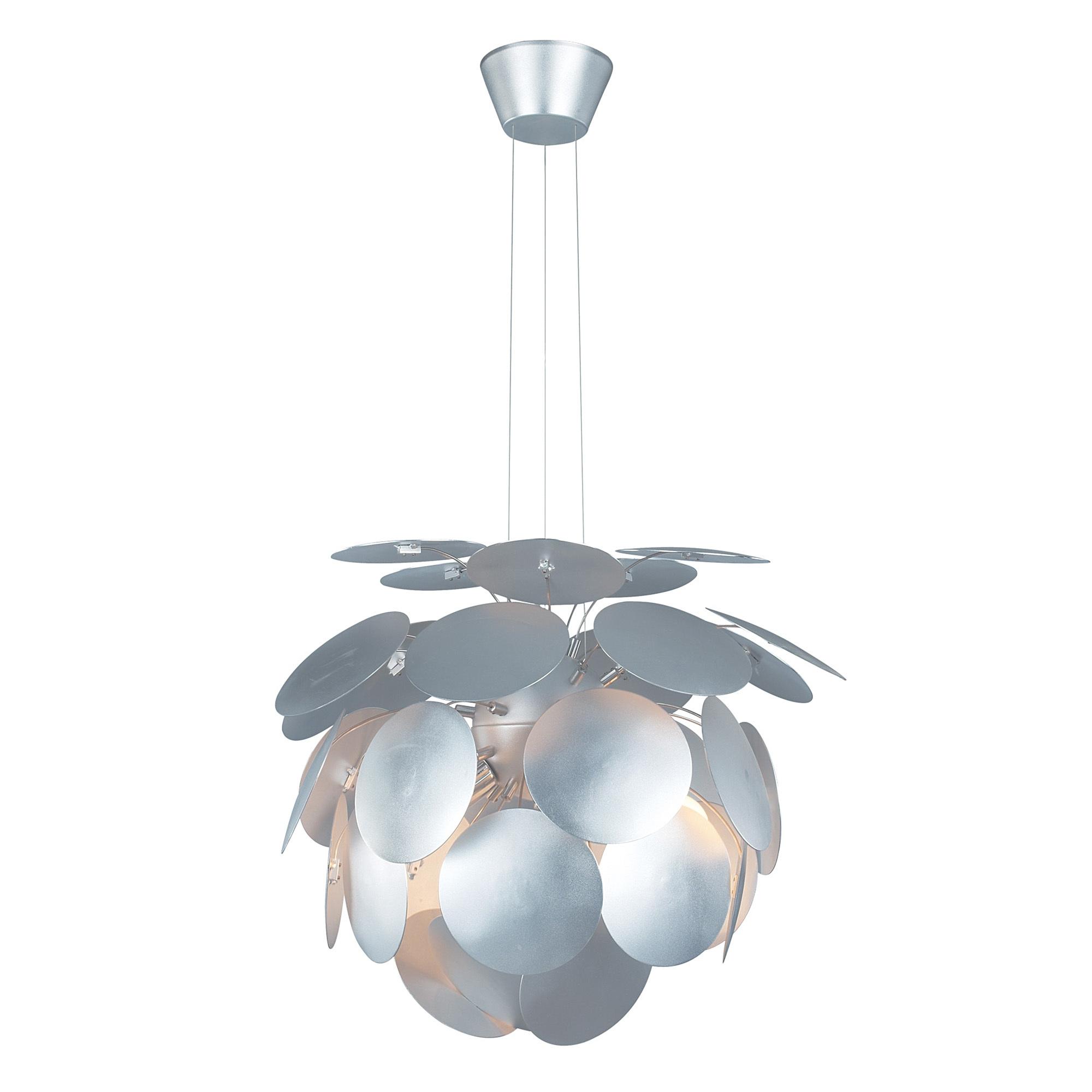 Contemporary Petal Ceiling Light - Silver