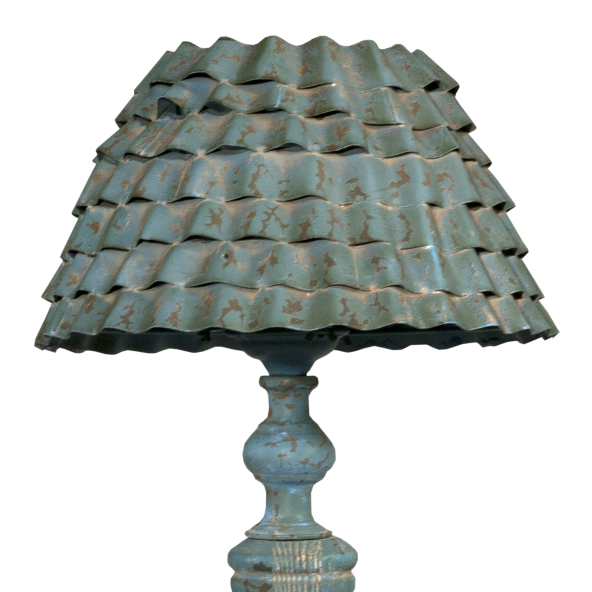 Shabby Chic Vintage Lamp - Duck Egg