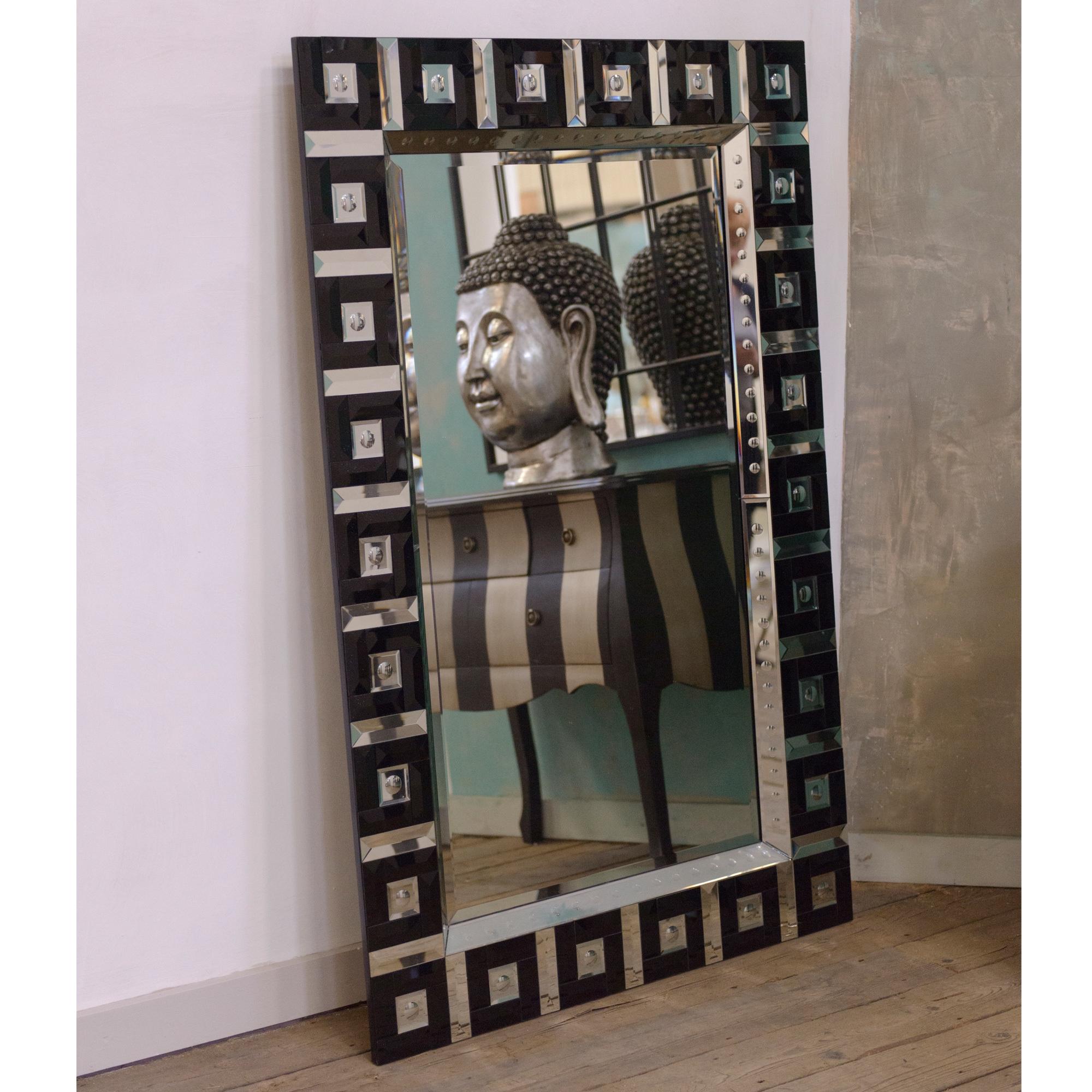 Contemporary Venetian Mirror - Black