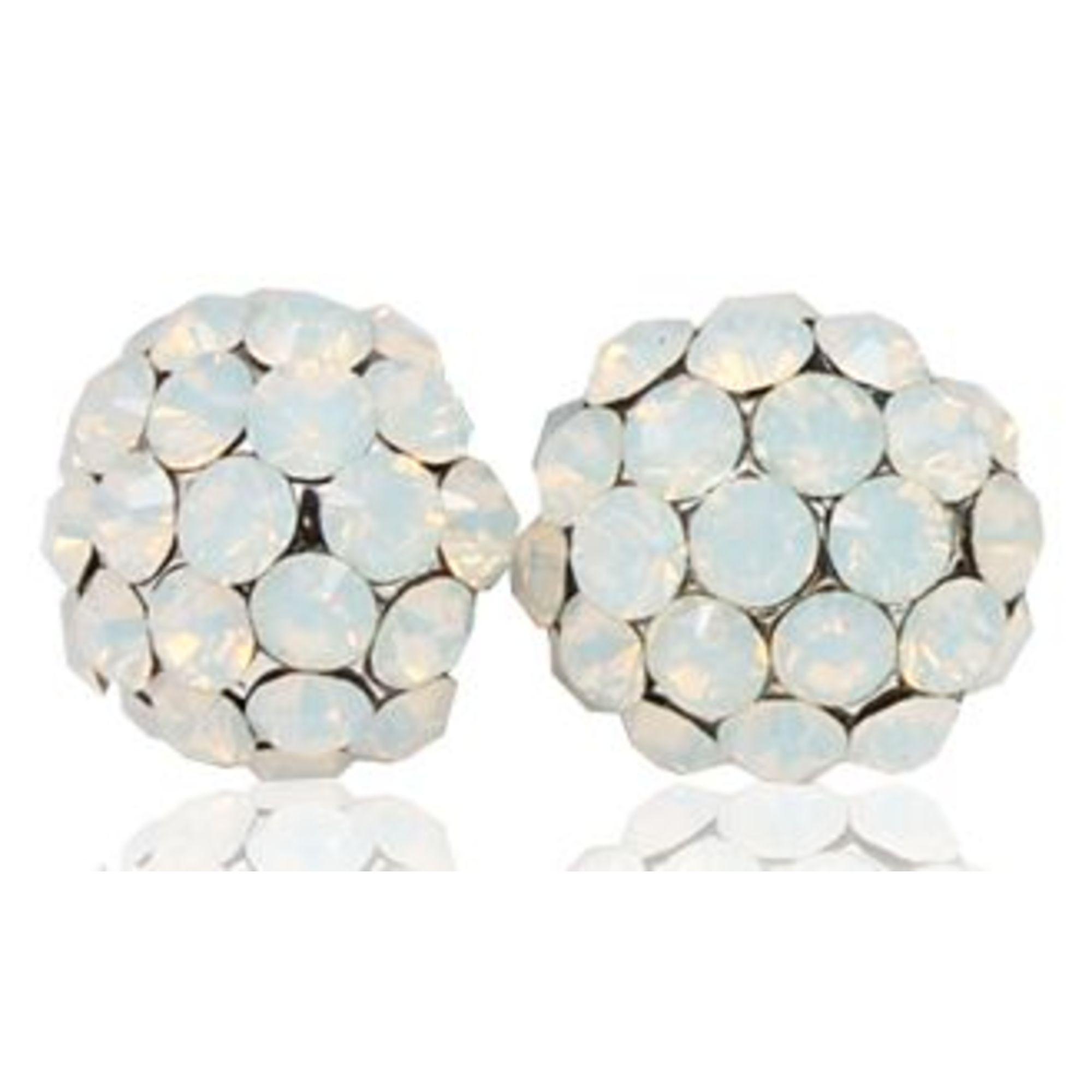 Ball Earring - White Opal