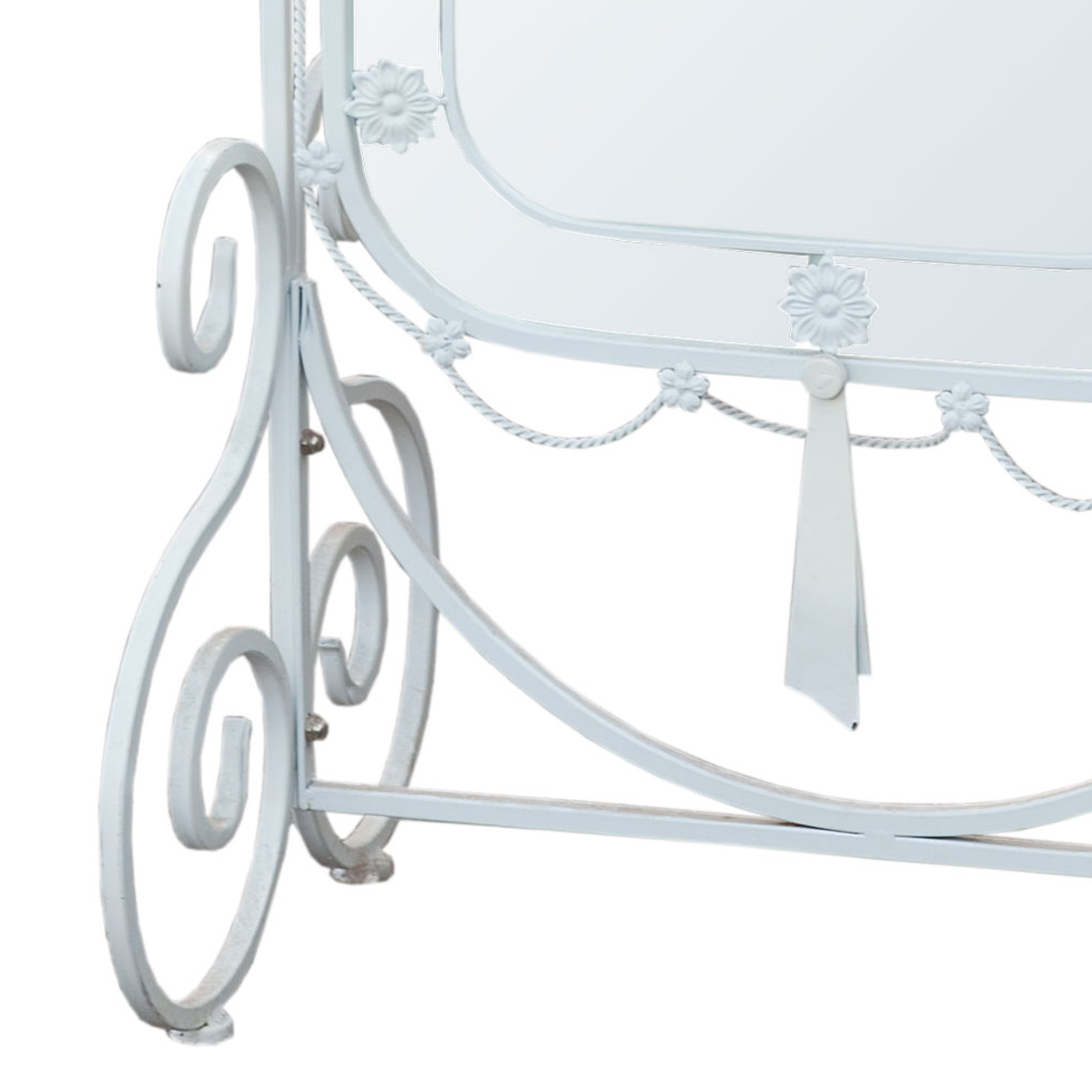 Iron Cheval Full Length Mirror - White