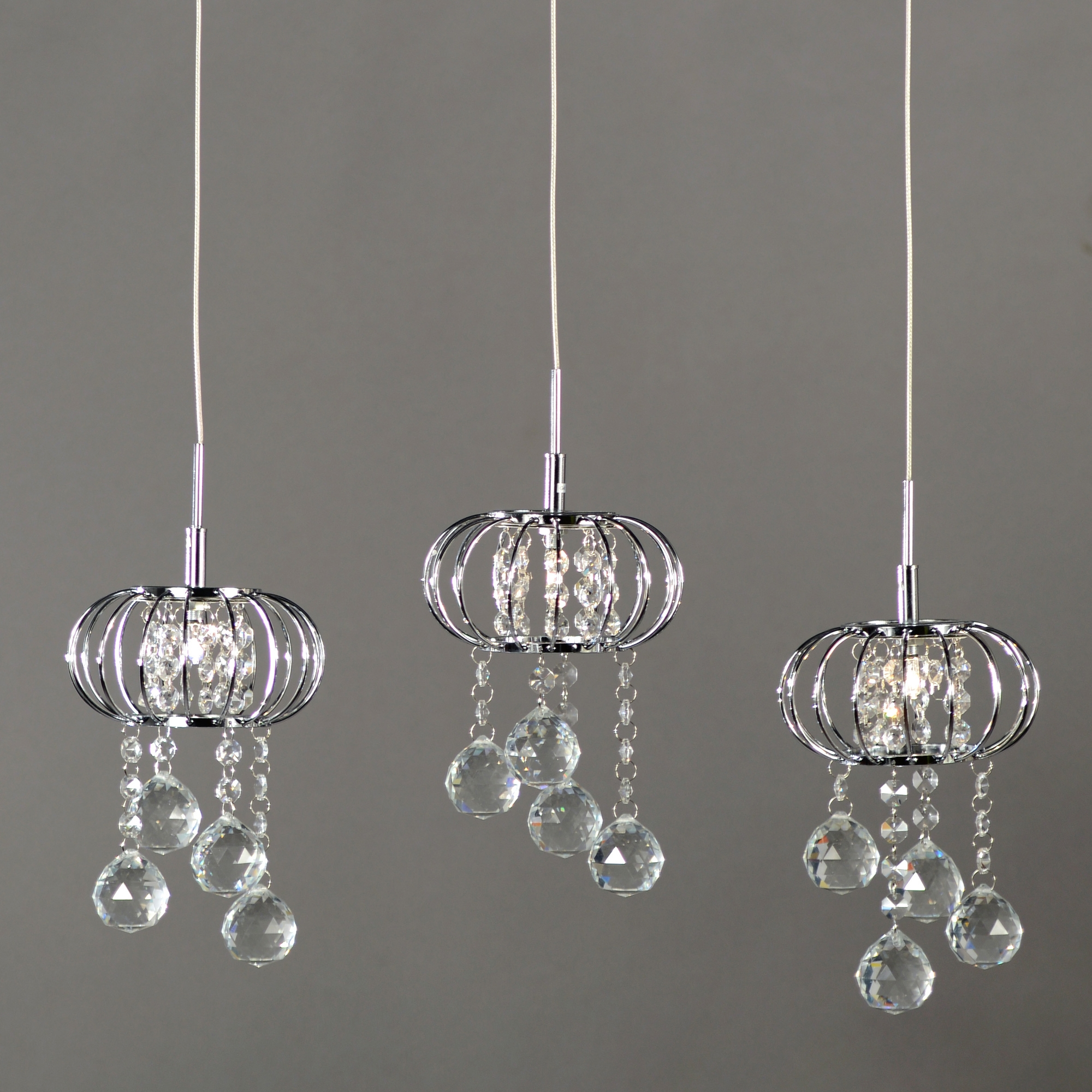 Crystal 3 Light Chandelier - Chrome and Clear