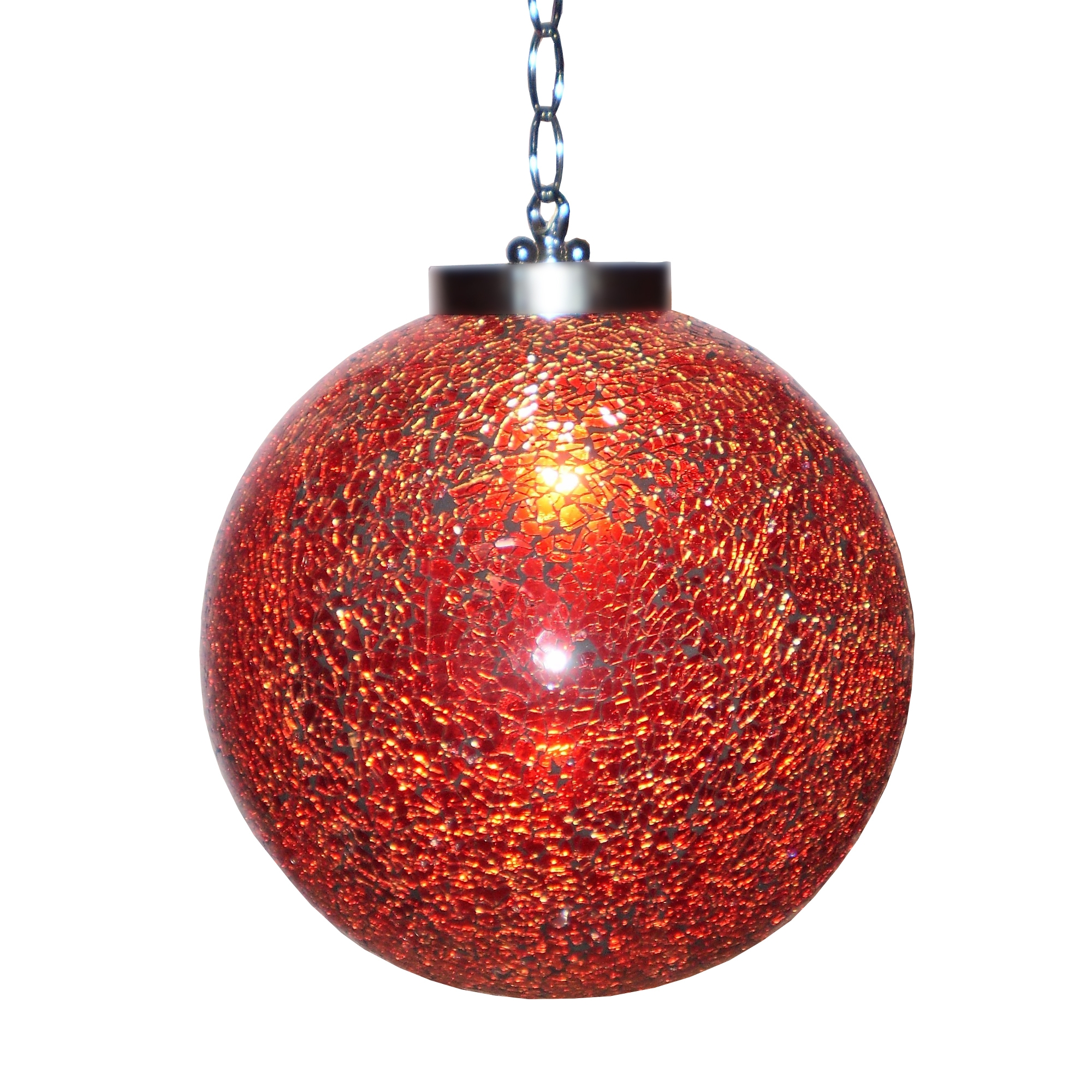 Sparkle Globe Ceiling Light - Red