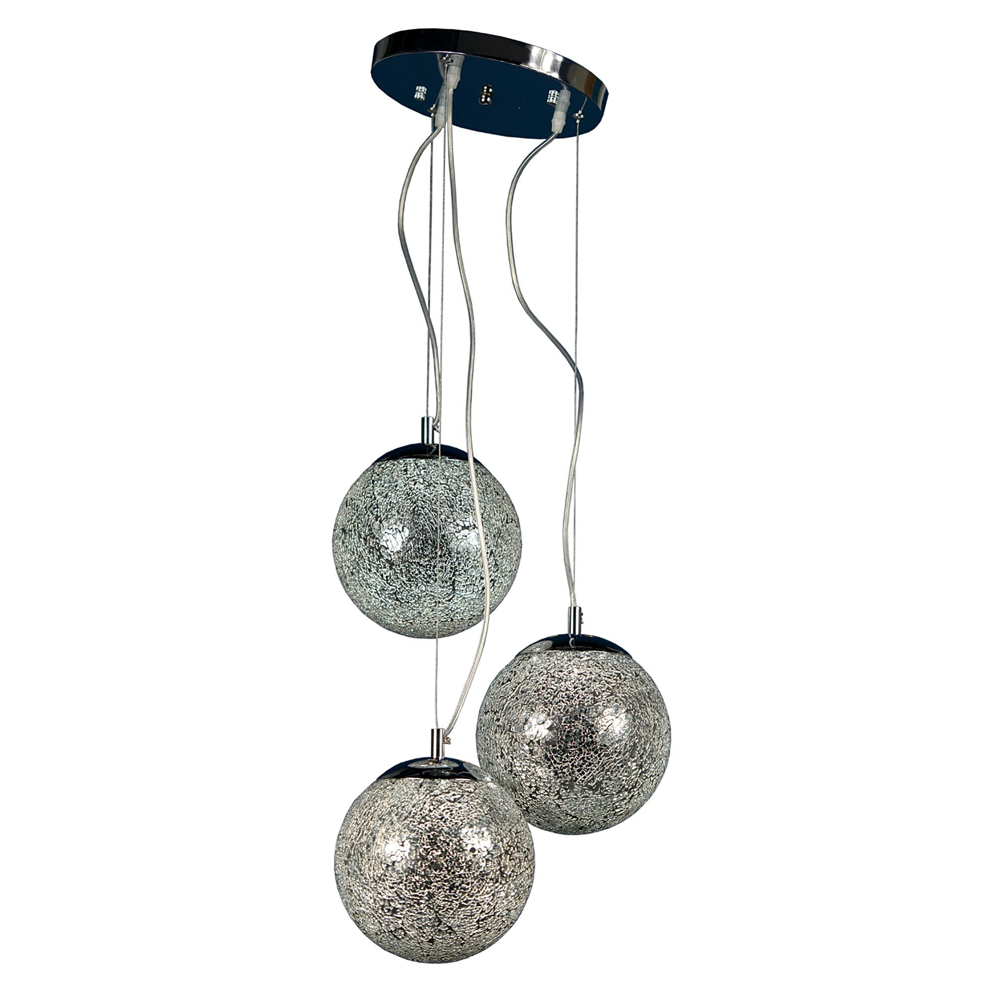 Trio Sparkle Globe Ceiling Light - Silver