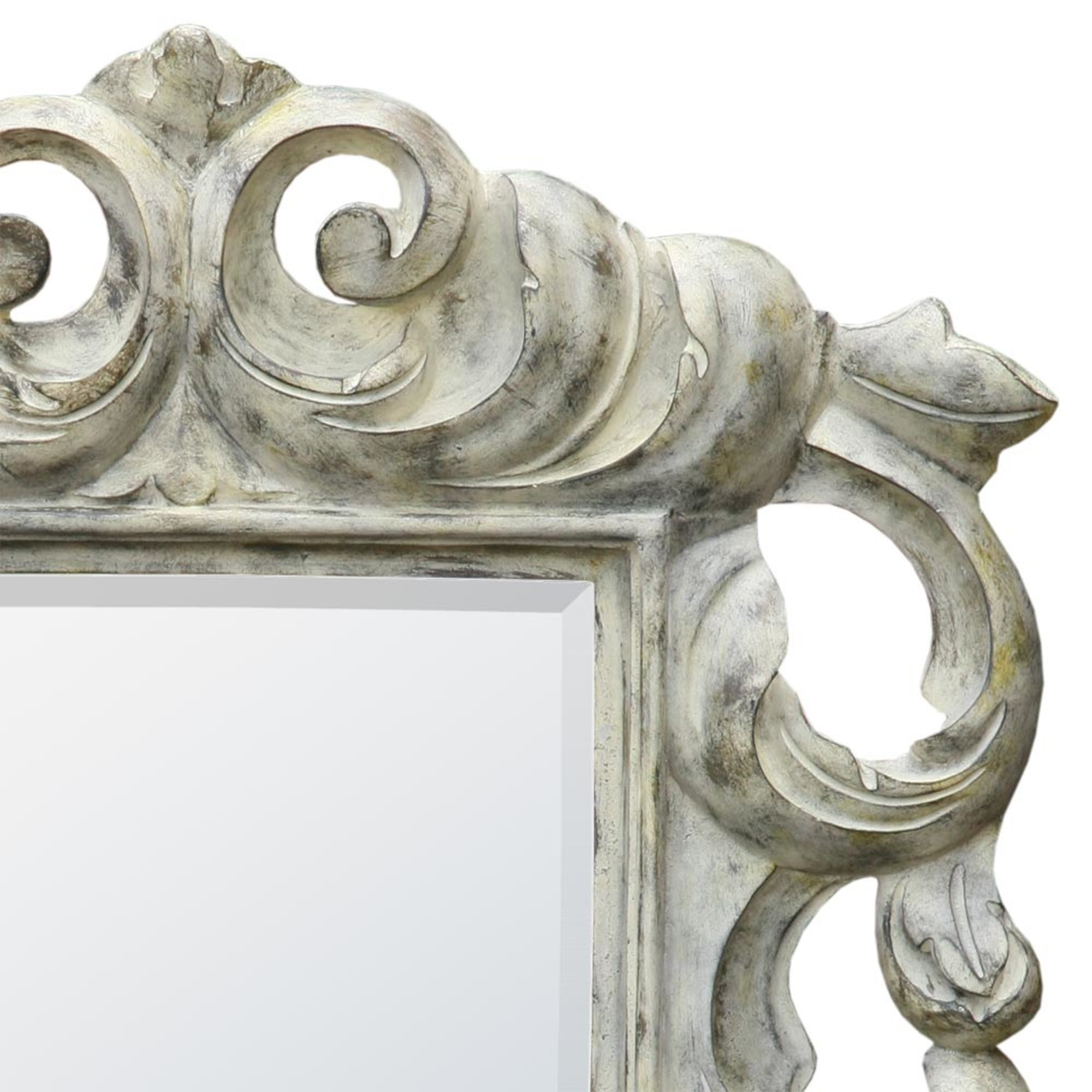 Baroque Rustic Grey Bevelled Portrait Decorative Wall Bedroom Hall Mirror