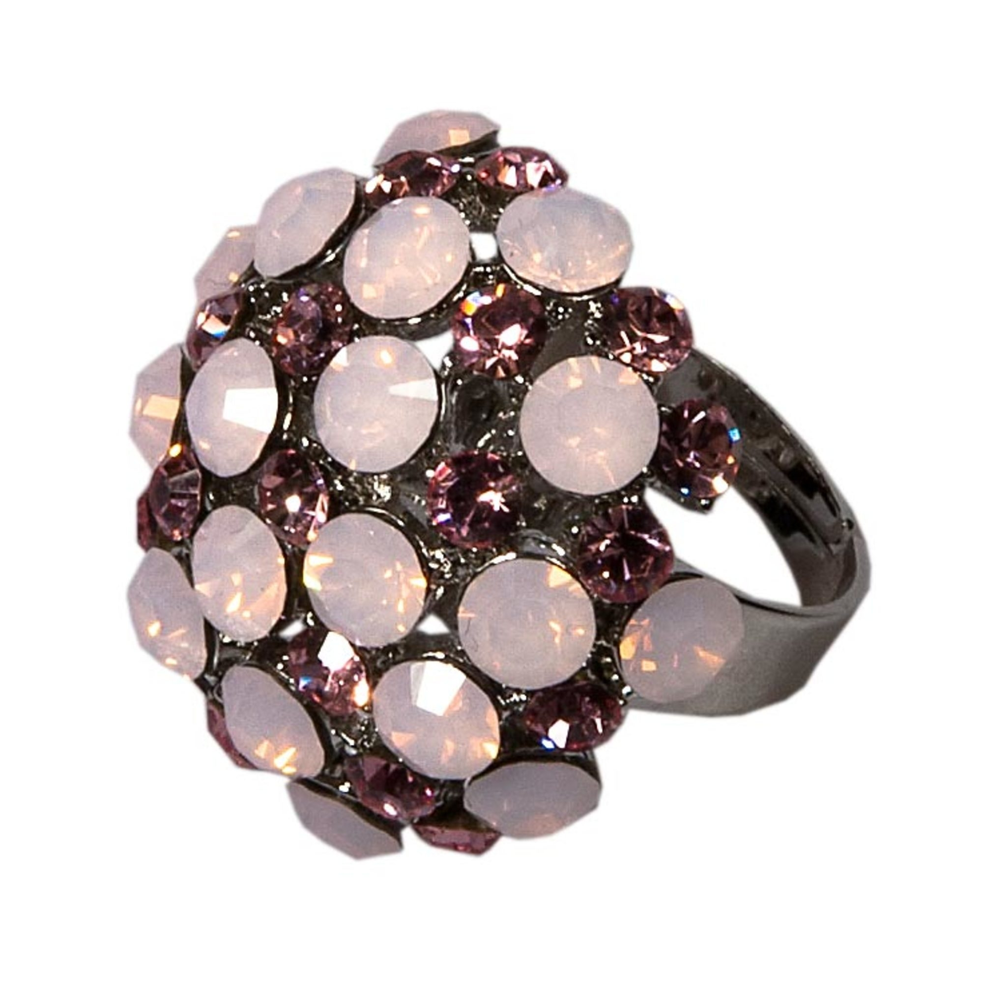 BIG BALL RING-ROSE WATER OPAL