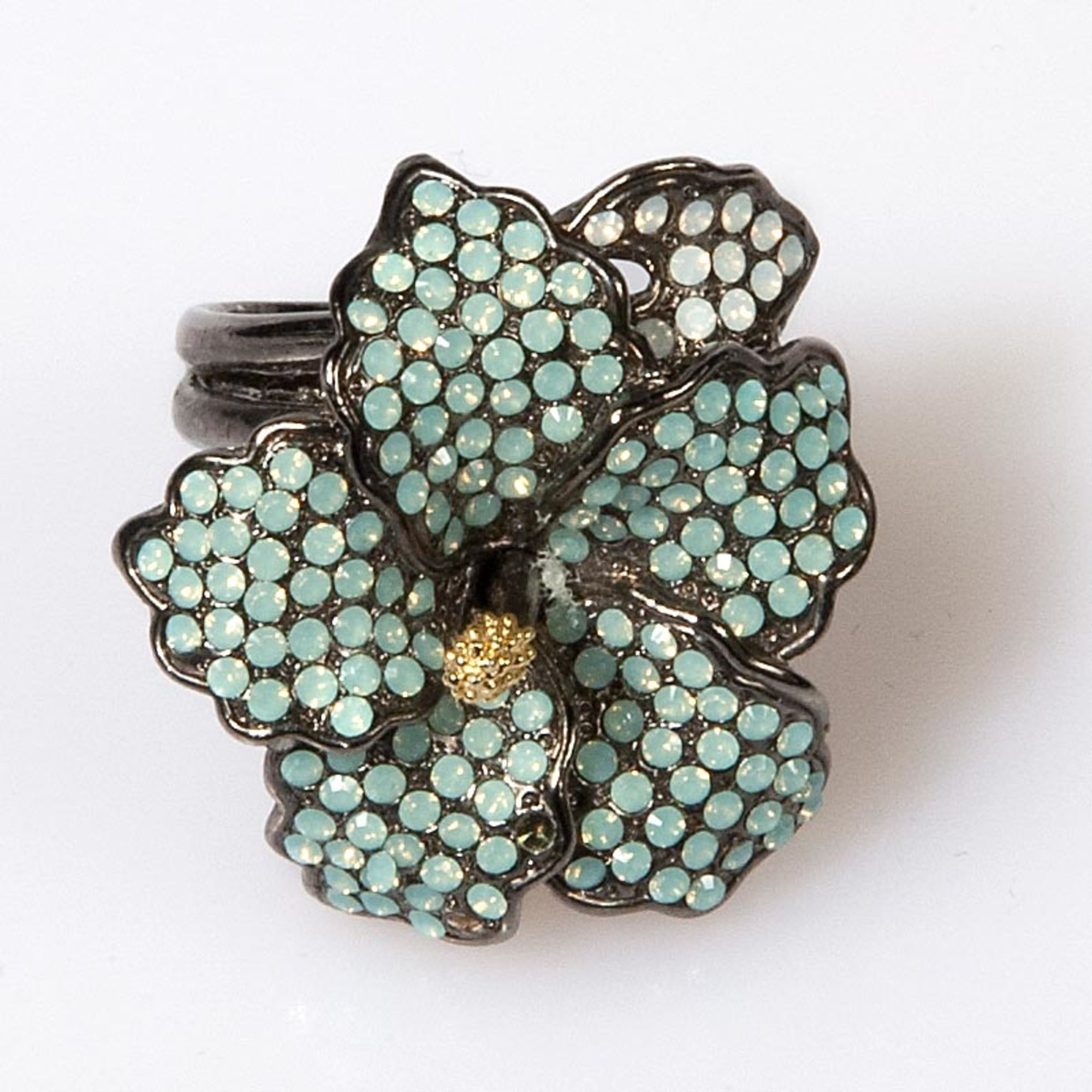 Pacific Opal Hibiscus Ring