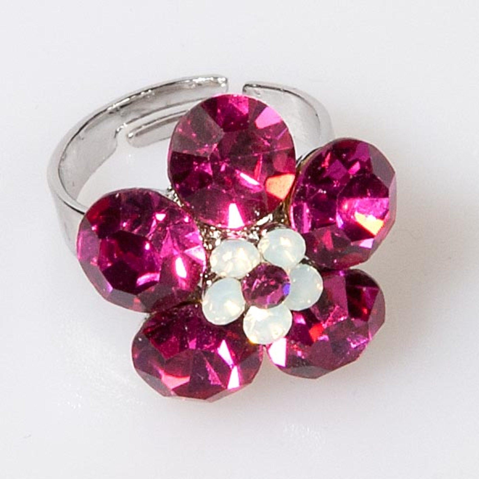 Mini Flower Ring-Fuchsia