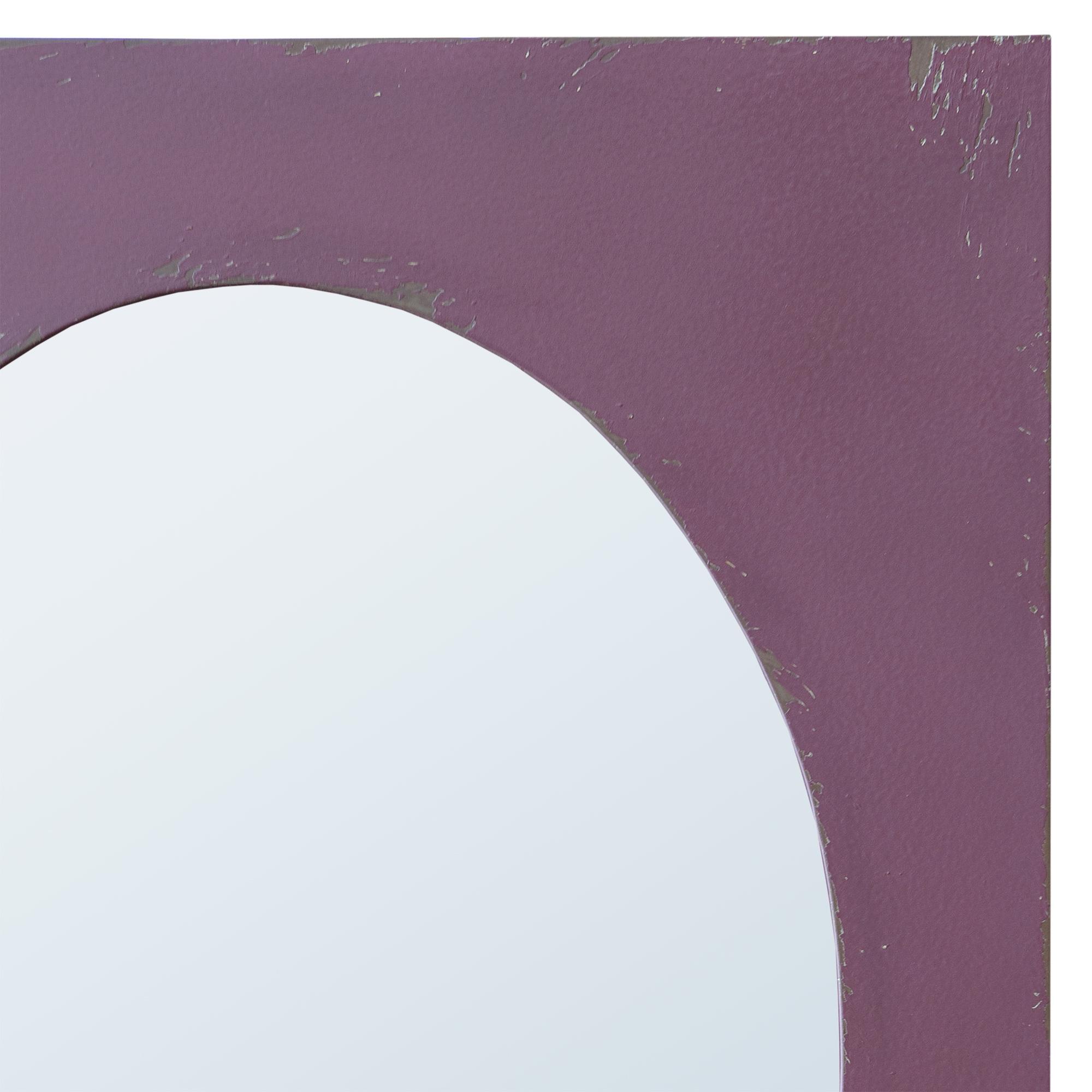 Purple Distressed Decorative Oval Wall Bedroom Hall Bathroom Mirror