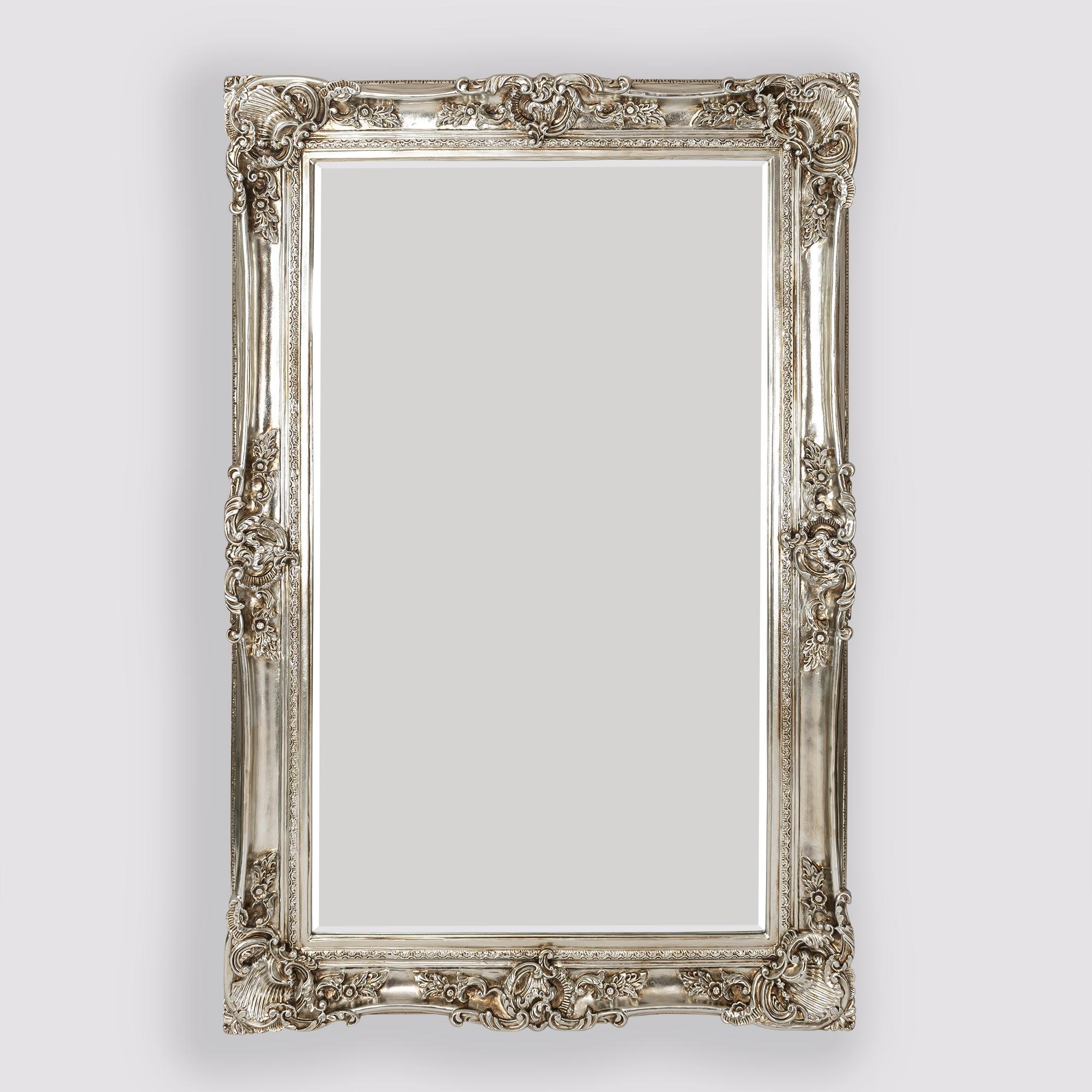 Leonardo Antique Style Silver Large Floor Standing Decorative Wall Mirror