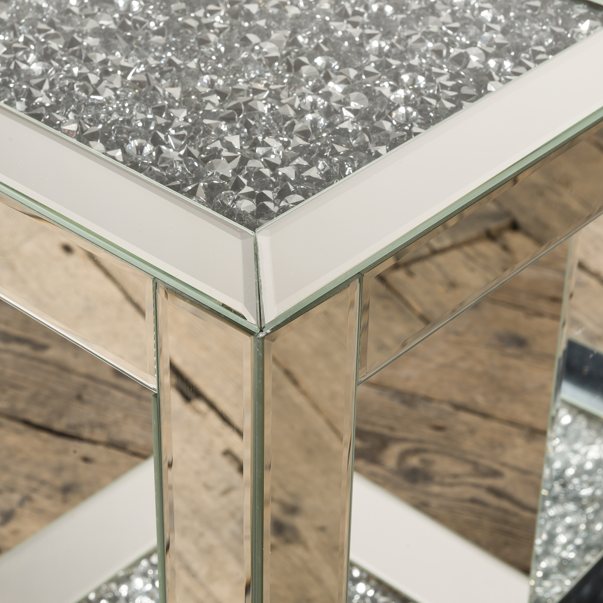 Crushed Diamond Mirrored Occasional Table