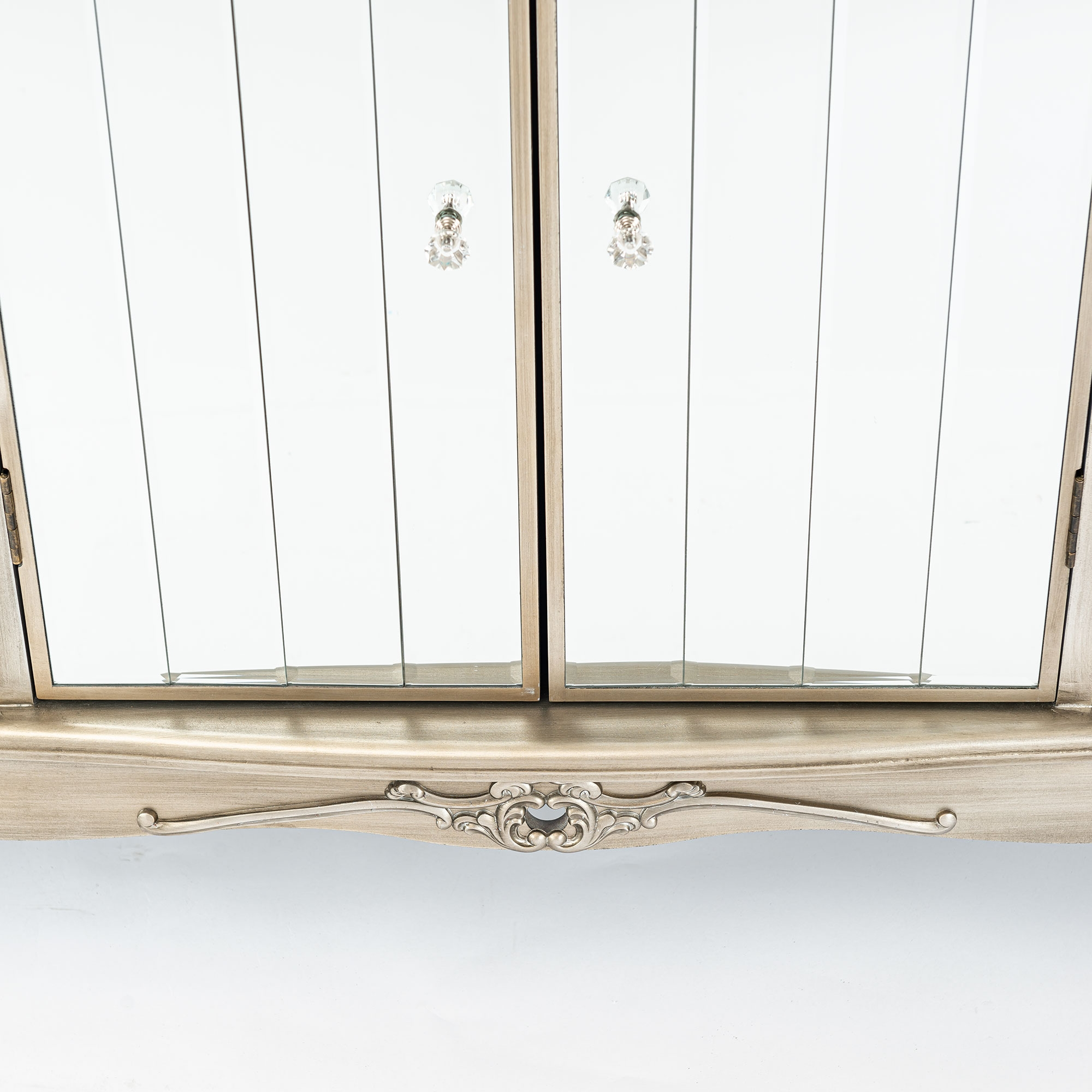 Annabelle Mirrored Sideboard Cabinet - Antique Silver